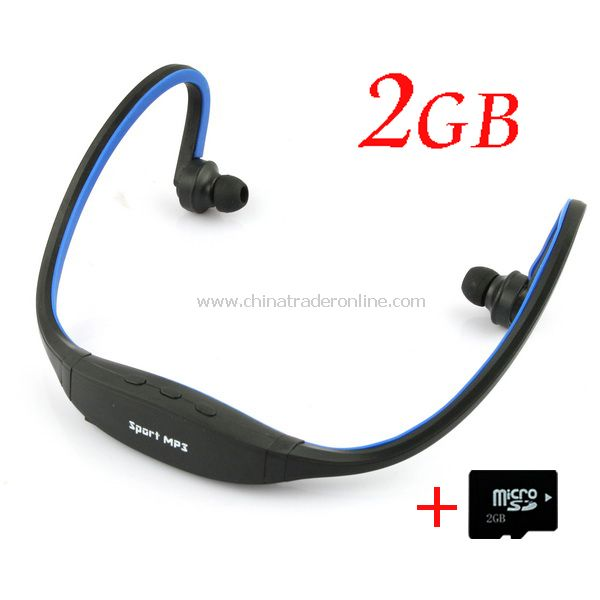TF Card Slot Handsfree Headset Sports MP3 Music Player + 2GB TF Card