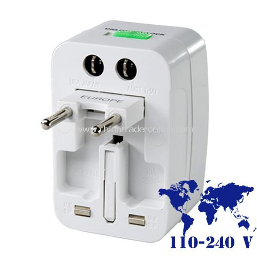 Universal Travel Adapter + Surge Protector for International Use