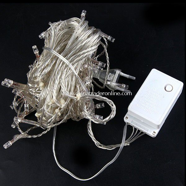 120-LED LED White String Light Festival Lamp for Xmas Christmas Halloween Garden Party (3m)