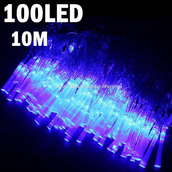 8-mode 100-LED String Lamp Light 10m for Christmas Halloween Wedding Blue