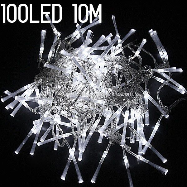 8-mode 100-LED String Lamp Light 10m for Christmas Halloween Wedding White