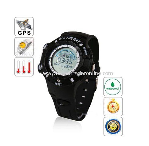 All The Way GPS Tracker Water-resistant Sport Watch Black – Integrated Version