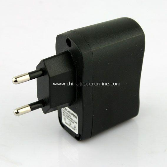 EU Plug USB AC DC Power Supply Wall Charger Adapter MP3 MP4 DV Charger Black