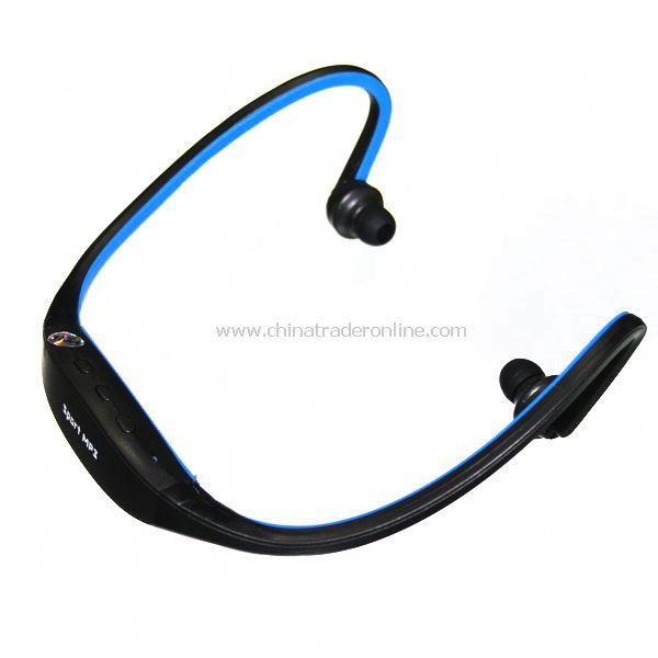 Headset Handsfree MP3 Player 2GB Blue