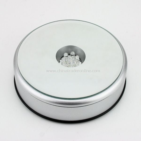 Unique Rotating Crystal Display Base Stand 7 LED Light from China