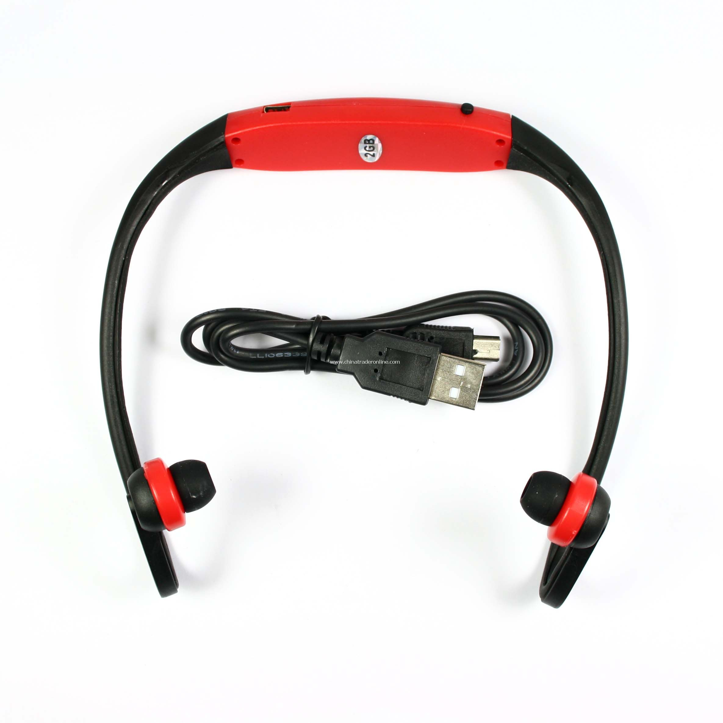 Headset Handsfree MP3 Player 2GB Red