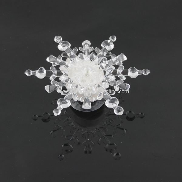 Snowflake Design Suction Cup Color Changed Light Christmas Décor