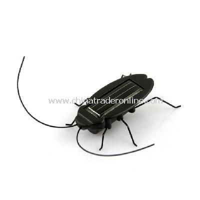 Solar Power Energy Cockroach Fun Gadget Office School from China