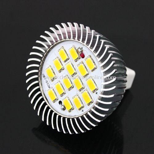 7W MR16 5630 SMD 15-LED Light Bulb Lamp 10-18V Warm White New