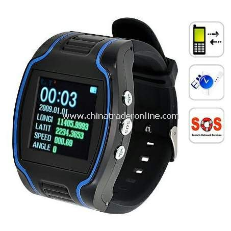 CRT19N GPS Tracker Wrist Watch Real-time GSM GPRS Security Surveillance Quad Band SOS from China