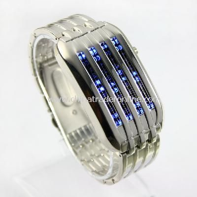 New 44 LED Stainless Steel Digital Wrist Watch for Men