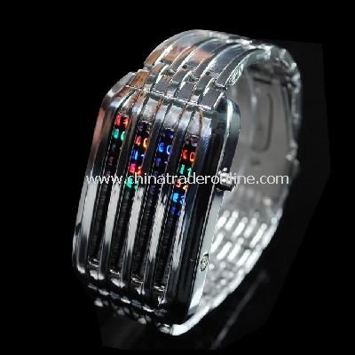 New 44 LED Stainless Steel Digital Wrist Watch for Men from China