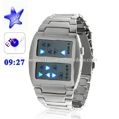 Templar - Japanese Inspired Blue LED Watch from China