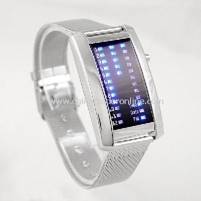 New Fashion Men Womens 29 Flash Blue LED Digital Sport Watch
