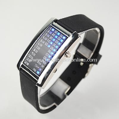 New Fashion Men Womens 29 Flash Blue LED Digital Sport Watch Black