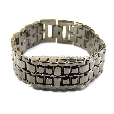 Stainless Steel LED Blue Digital Unsex Bracelet Watch