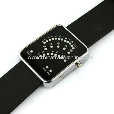 29 LED Blue Light Digital Date Time Lady Men Wrist Watch