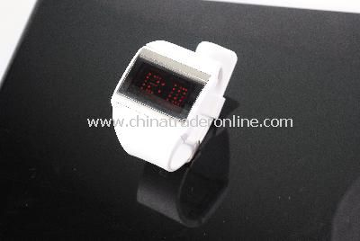 New Fashion Men Womans Flash LED TOUCH SCREEN Sport Watch White