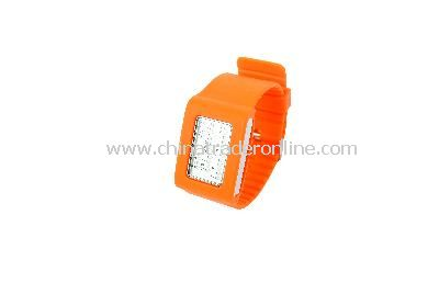 New Fashion Men Womens 4 Colors 31 Flash LED Digital Sport Watch Orange