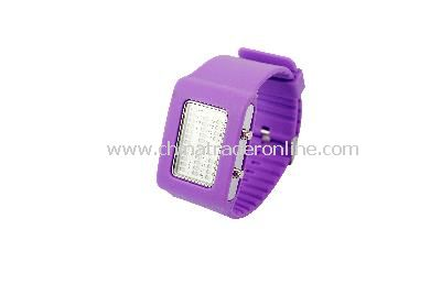 New Fashion Men Womens 4 Colors 31 Flash LED Digital Sport Watch Purple