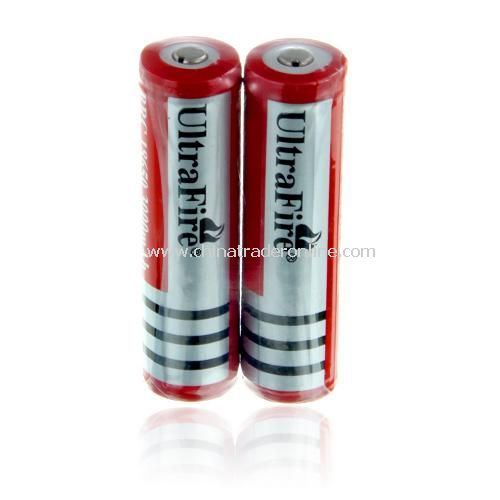 18650 3000mAh 3.7V Lithium Rechargeable Battery with Protection PCB(1 pair)