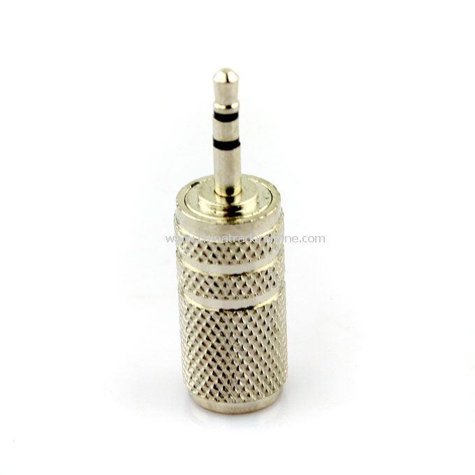 3.5mm Female jack to 2.5mm Male Plug Audio Adapter Converter Silver
