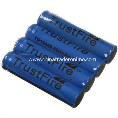 TrustFire 10440 600mAh 3.6V Li-ion Rechargeable Battery 4 Pcs