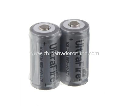 UltraFire 16340 880mAh 3.6V Li-ion Rechargeable Battery with Protection PCB 2 Pcs