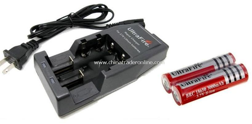 UltraFire WF-139 18650 14500 18500 17670 17500 Battery Charger with 2pcs 18650 3000mAh PCB Battery