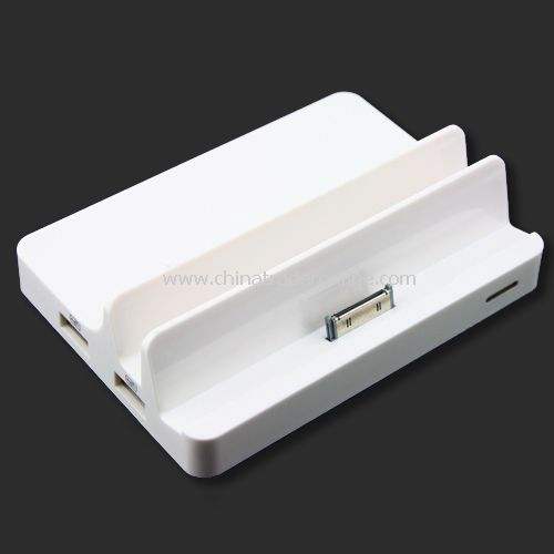 All in One Dock HDMI AV Output USB-HUB Charger Sync For iPad iPhone iPod