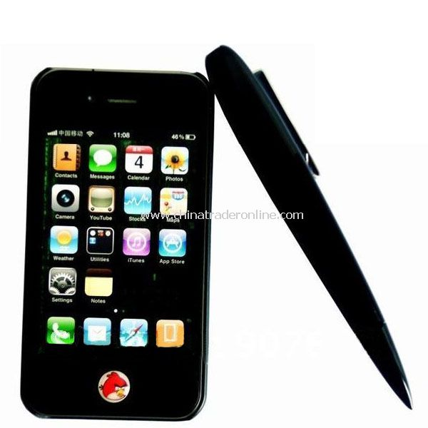 Bluetooth Pen Headset with Stylus for iPhone 3GS, iPhone 4, iPad 2, HTC SmartPhone with earphone