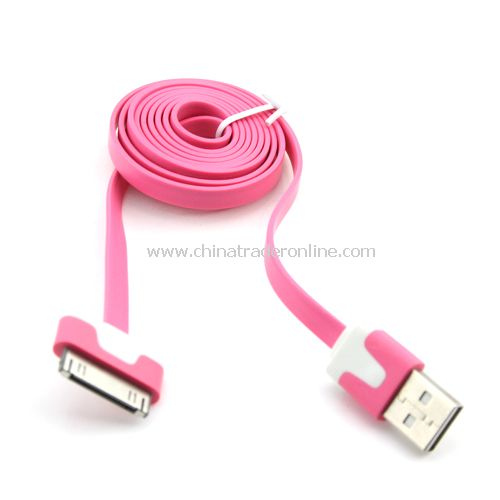 Double color pink data line to iPad iPhone iPod data transmission charging line from China