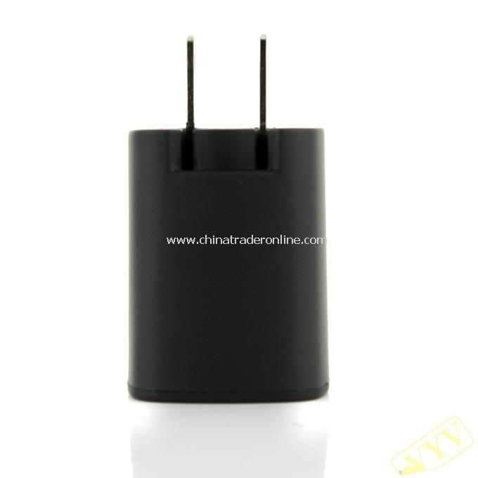 Dual USB Power Adapter/Charger (100~240V/US Plug)- Black