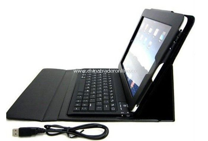 IPAD 2 LEATHER CASE + SILICONE WIRELESS BLUETOOTH KEYBOARD
