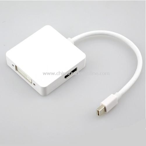 Mini DisplayPort DP Male to DP / DVI / HDMI Cable Adapter Convertor For Apple Macbook Pro Air