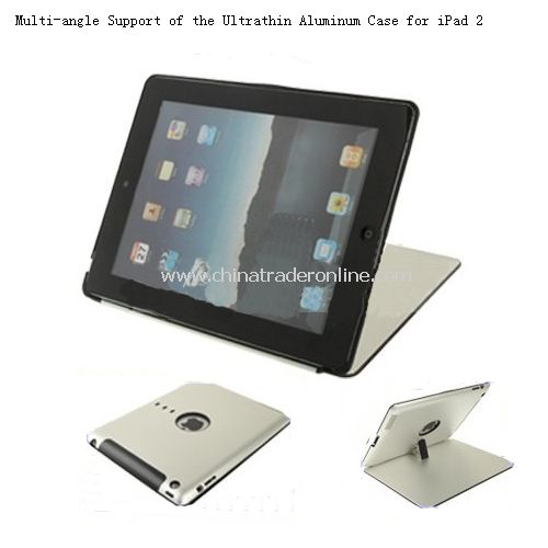 Multi-angle Support of the Ultrathin Aluminum Case for iPad 2