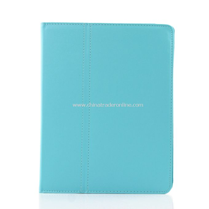 New Folio Magnetic Smart Leather Case Cover for iPad 2 Blue