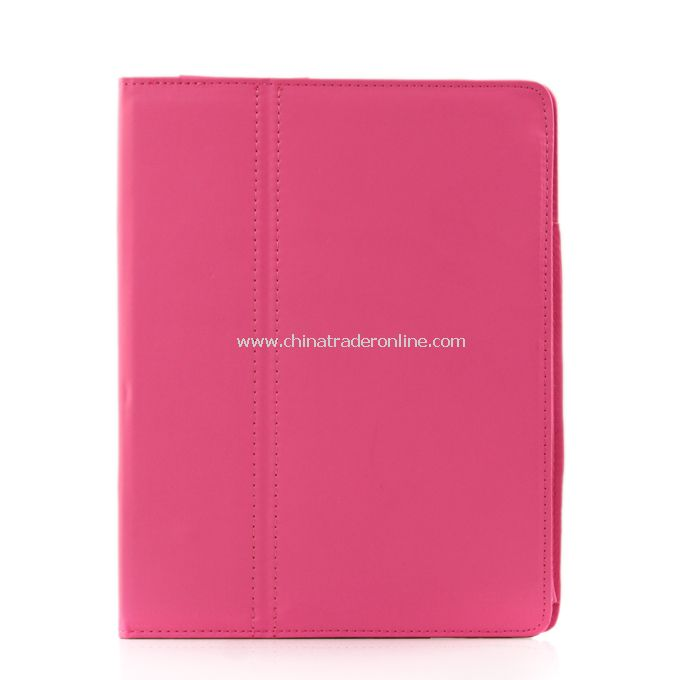 New Folio Magnetic Smart Leather Case Cover for iPad 2 rose Pink