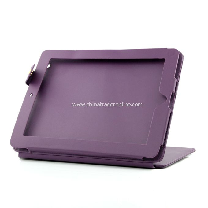 New Magnetic Smart Leather Skin Case Cover for Apple iPad 2 w/ Stand Purple