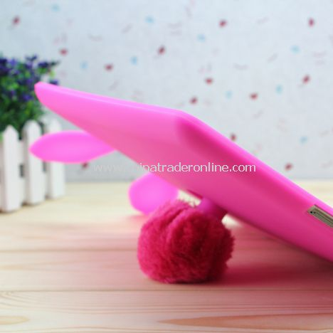 Rabbit Silicone Case Cover + Suction Stand for Apple iPad 2(random color)