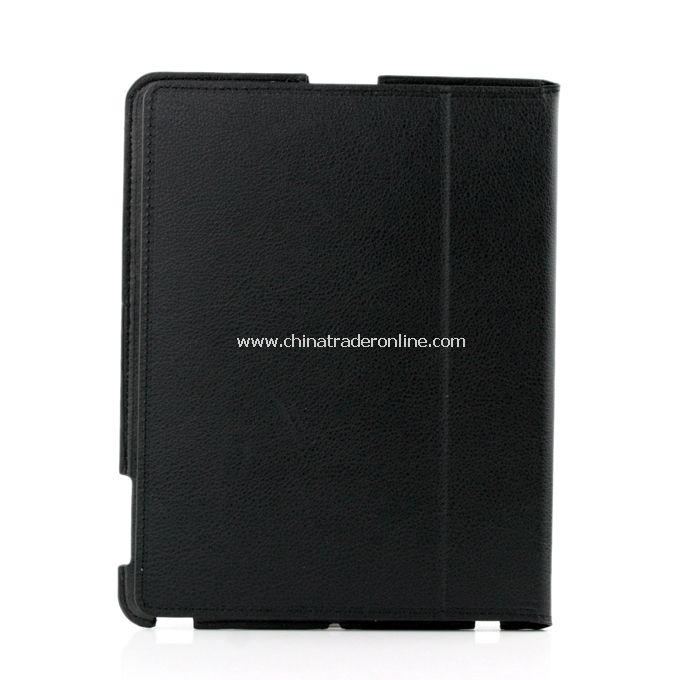Stylish Ultra Thin Magnetic Smart Leather Case Cover w/ Stand Function for iPad2 Black