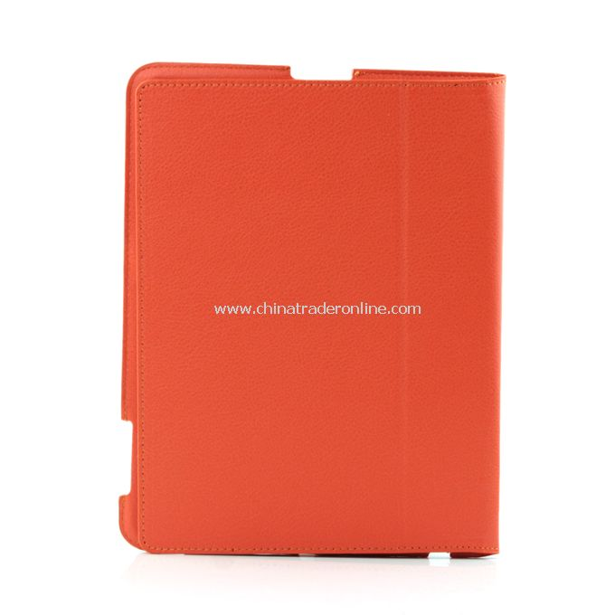 Stylish Ultra Thin Magnetic Smart Leather Case Cover w/ Stand Function for iPad2 Orange