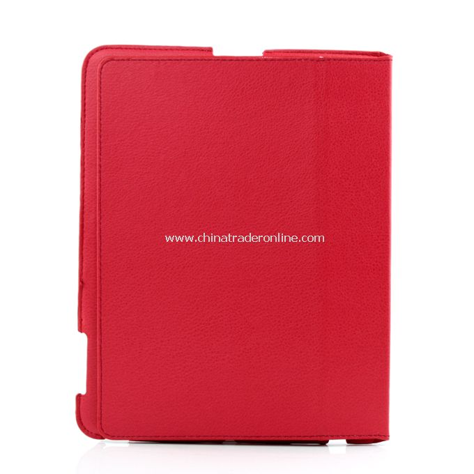 Stylish Ultra Thin Magnetic Smart Leather Case Cover w/ Stand Function for iPad2 red