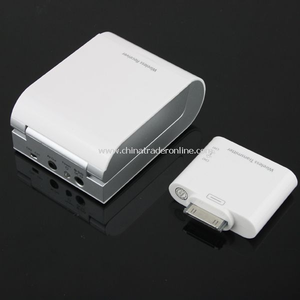 Wireless AV Audio Video TV Box Transmitter/Receiver for iPad 2 iPhone iPod iTouch