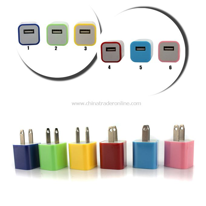 AC 100-240V US Type Ultra-Mini USB Power Travel Adapter Charger for iPod iPhone 4/4S