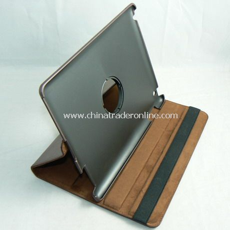 APPLE IPAD 2 LEATHER CASE COVER W/STAND BROWN