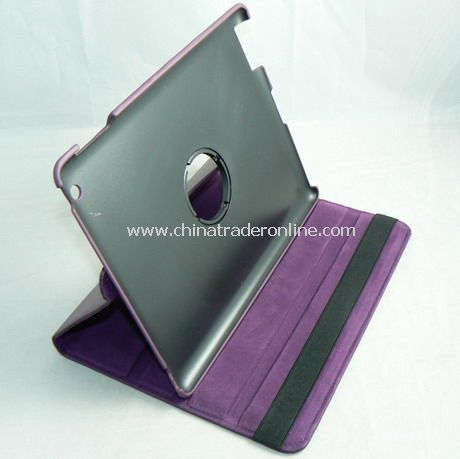 APPLE IPAD 2 LEATHER CASE COVER W/STAND purple