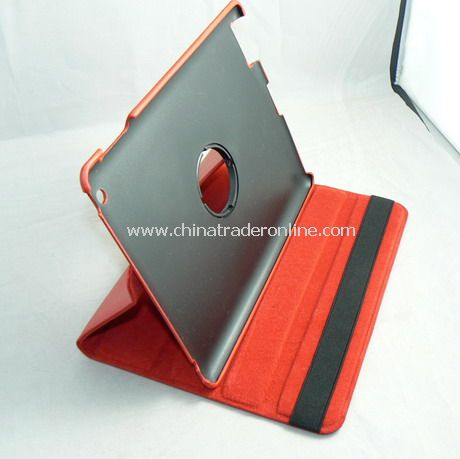 APPLE IPAD 2 LEATHER CASE COVER W/STAND RED