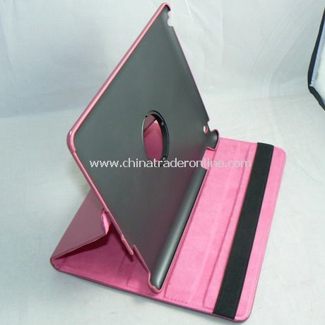 APPLE IPAD 2 LEATHER CASE COVER W/STAND rose-bengal