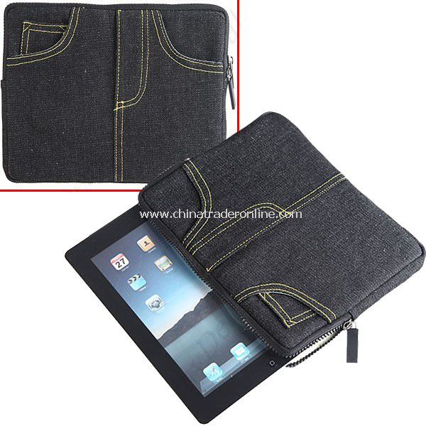 Creative Jean Style Protective Sleeve Inner Bag Case for Apple ipad Tablet PC from China